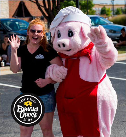 Our Story: Award-Winning BBQ Food in DMV | Famous Dave's - mascot